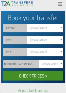transfers2airports.com mobile version